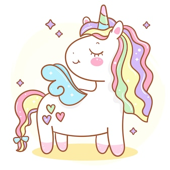 Cute unicorn illustration