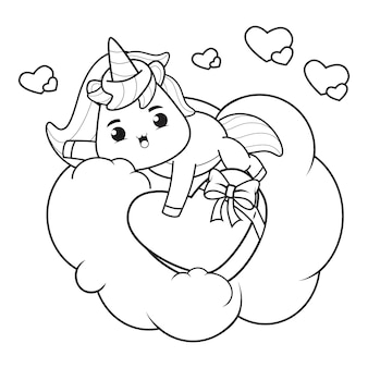 Cute unicorn ilustration for christmas day illustration