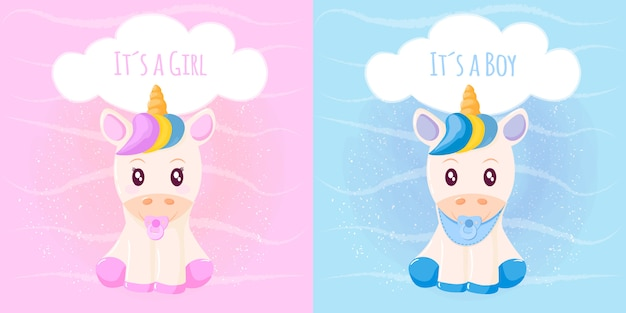 Cute unicorn its a girl its a boy