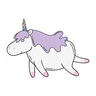 Cute unicorn kawaii character