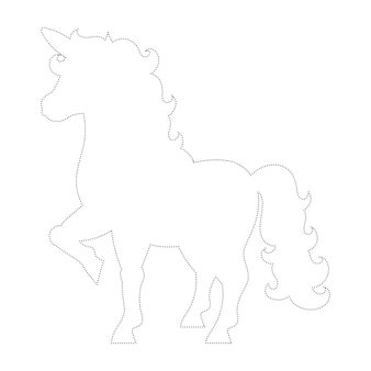 Cute unicorn magic fairy horse trace and color coloring page for kids