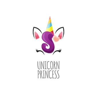 Cute unicorn princess