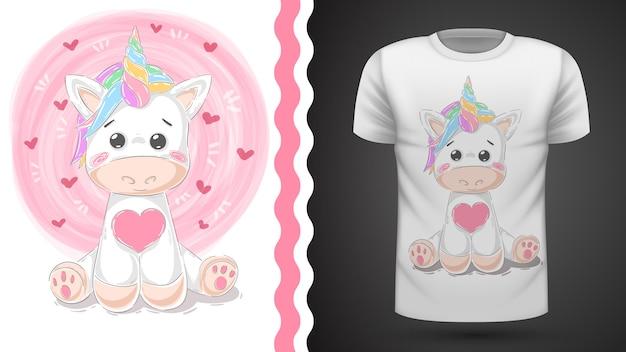 Cute unicorn for print t-shirt