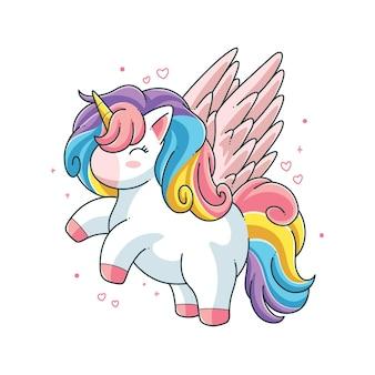 Cute unicorn vector illustration design