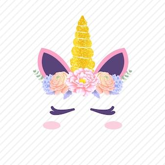 Cute unicorn vector