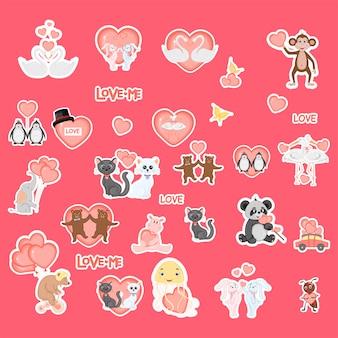 Cute valentine animals.