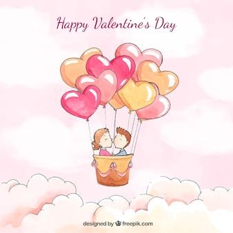 귀여운 발렌타인 배경