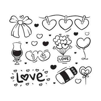 かわいいバレンタイン落書きセット