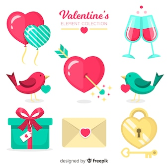 Cute valentine elements collection