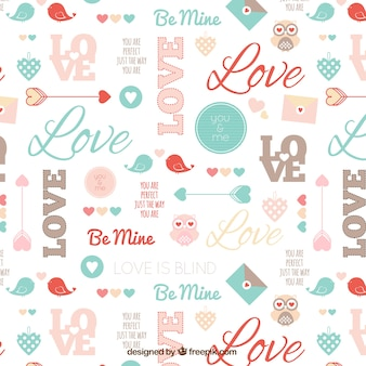Cute valentine pattern