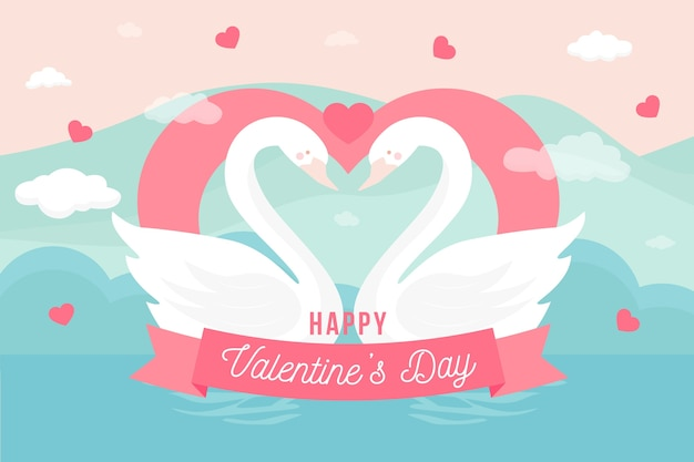 Cute valentine's day background greeting