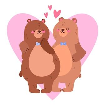 かわいいバレンタインデーのカップル