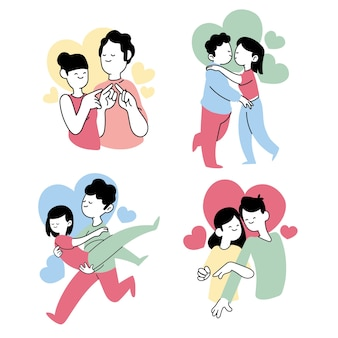 Cute valentine's day couple collection