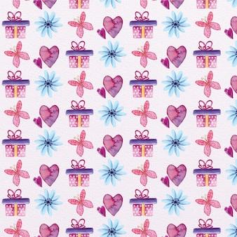 かわいいバレンタインデーパターン