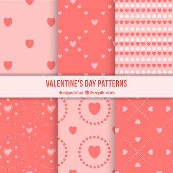ピンクの色調でかわいいバレンタインデーパターン