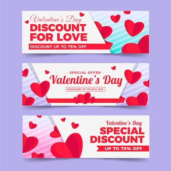 Cute valentine's day sale banners