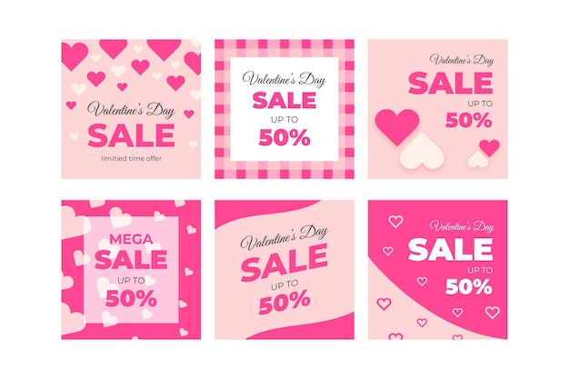 Cute valentine's day sale instagram post collection