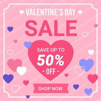 Симпатичная распродажа ко дню святого валентина