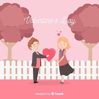 かわいいバレンタインデーの背景