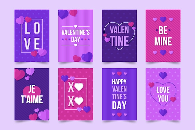 Cute valentines day celebration cards