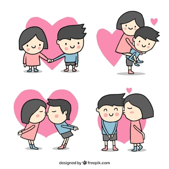 Cute valentines day couple collection