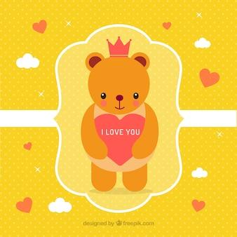 Cute valentines day teddy bear