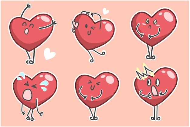 표정으로 귀여운 발렌타인 하트