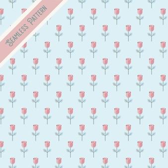 かわいいバレンタインのバラのシームレスなパターン