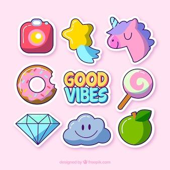 Cute variety of funny stickers