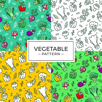 Cute vegetable pattern