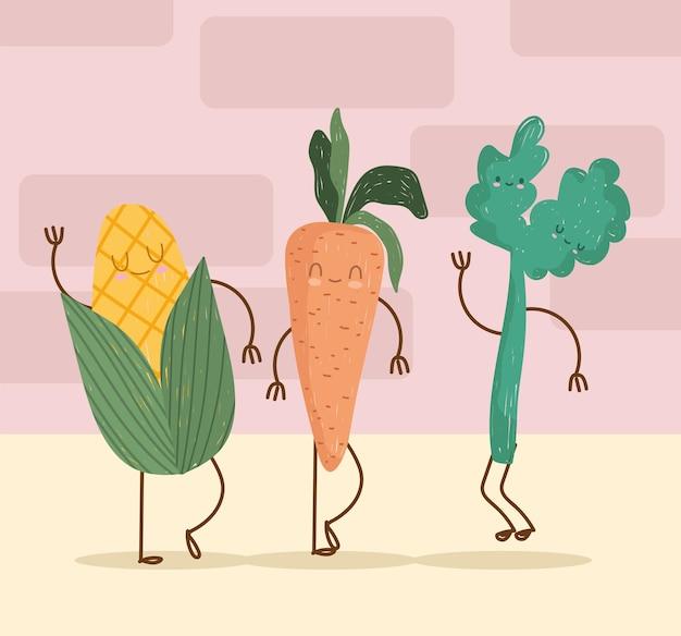 귀여운 야채 음식