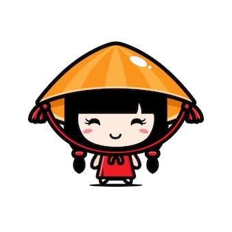 かわいいベトナムの女の子キャラクターデザイン