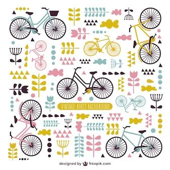 Cute vintage bicycle background