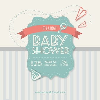 Cute vintage card for baby shower