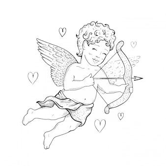 Cute vintage cupid