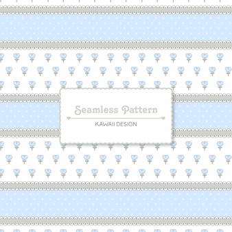 Cute vintage lace and flowers seamless pattern