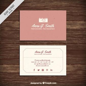 かわいいヴィンテージフォトスタジオカード