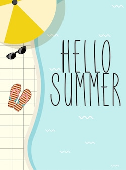 Cute vintage summer lettering
