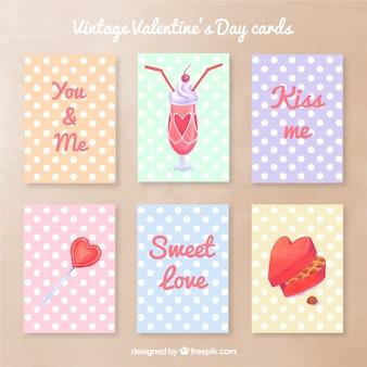かわいいヴィンテージバレンタインの日カード