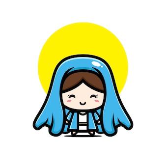 Cute virgin mary