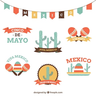 Cute viva mexico badges