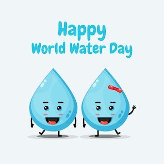 귀여운 물 캐릭터가 행복한 세계 물의 날을 기원합니다