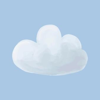 かわいい水彩雲ベクトルイラスト