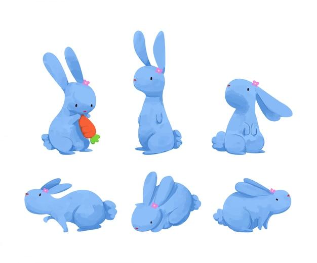 Cute watercolor rabbit