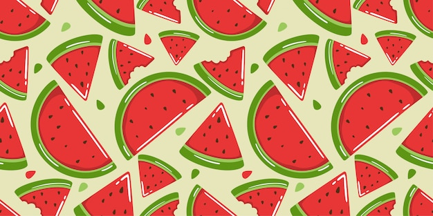 Cute watermelon seamless pattern