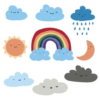 Cute weather set