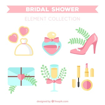 Cute wedding accessories in pastel colors