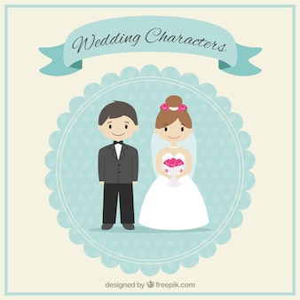 Cute wedding characters