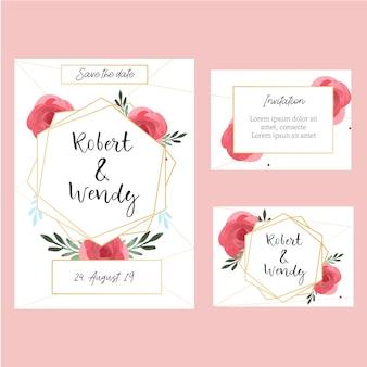 かわいい結婚式招待状のコレクション