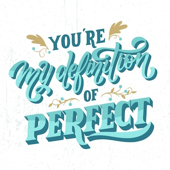 Cute wedding lettering concept